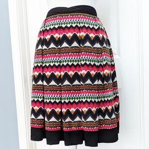 Fei Denpasar box pleat colorful geometric skirt